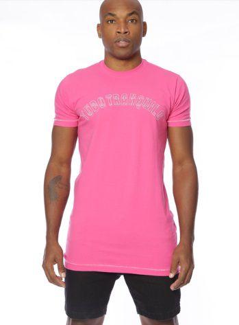 Camiseta Tudo Tranquilo Rettrô Tradicional Pink