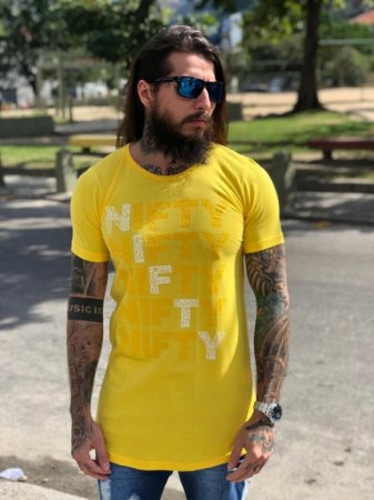 Camiseta Nifty Five Geometry Yellow