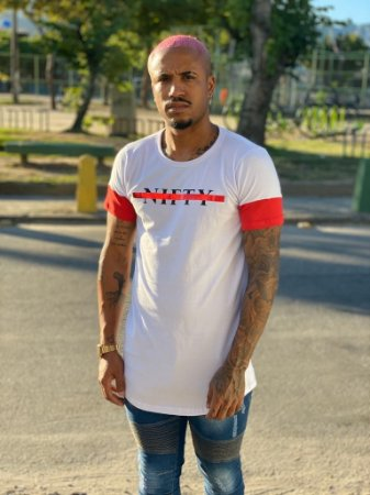 Camiseta Nifty Rasurated White/Red