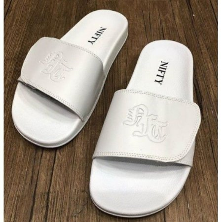 Chinelo Slide Nifty  Velcro White