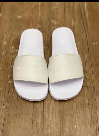 Chinelo Slide Nifty White/White