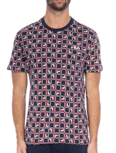 Camiseta Fila Masculina Agostino Estampada - Azul