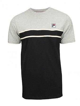 Camiseta Fila Algodão Baldi Masculina Cinza
