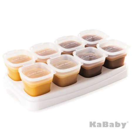 Potinho de papinha 70ml para armazenar alimentos c/ 8 unidades (Transparente) - Kababy - Cód. 1040B