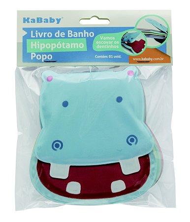 Livro de banho hipopótamo - Kababy - Cód. 22060A