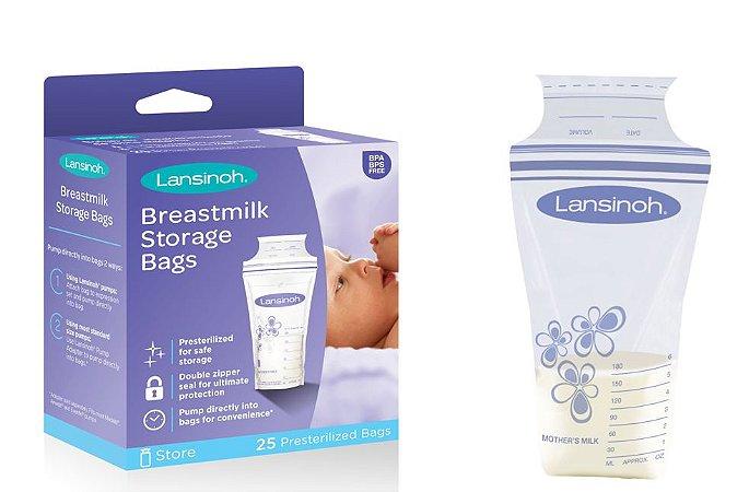 Saco para armazenar leite materno Lansinoh c/ 25 uni