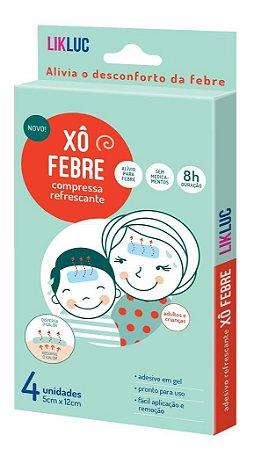 Xo Febre compressas refrescantes para a febre - LikLuc - caixa c/ 4 uni