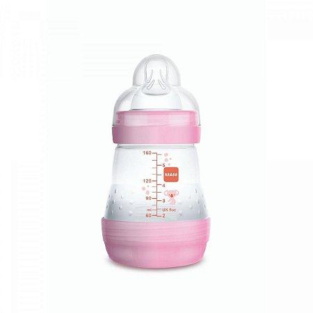 Mamadeira MAM Easy Start (Rosa) 160ml Anti-cólica e Auto-esterilizável