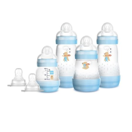Kit 4 Mamadeira MAM Easy Start (Azul) - Anti-cólica e Auto-esterilizável