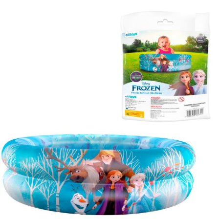 Piscina Inflável Infantil Frozen 115L (83x25cm)
