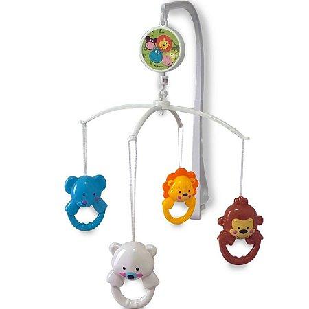 Móbile para berço musical de pelúcia Zoo Animais - Kitstar
