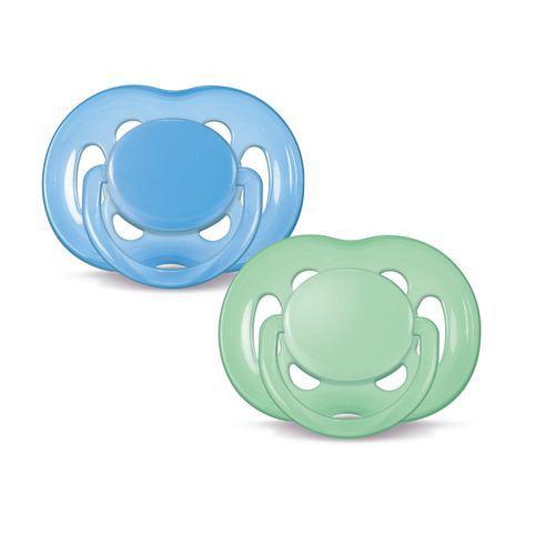 Chupeta Avent Freeflow 6 a 18 meses Dupla (pack com 2 uni) Azul e Verde - SCF178/24 - Philips Avent