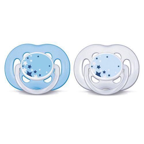 Chupeta Avent Freeflow 6 a 18 meses Dupla (pack com 2 uni) Azul - SCF181/24 - Philips Avent