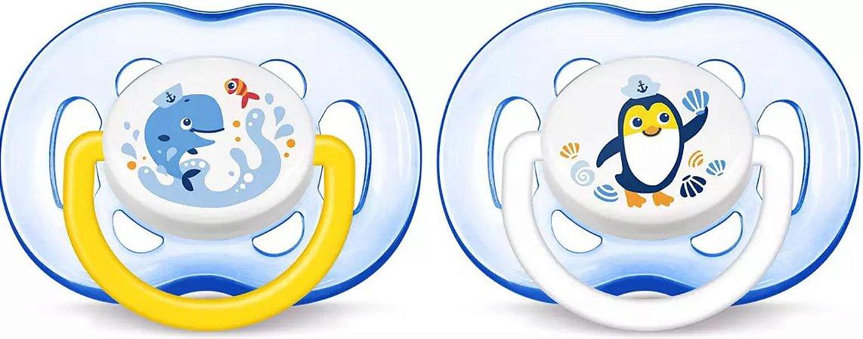 Chupeta Avent Freeflow 18+ meses Dupla (pack com 2 uni) Azul - SCF186/24 - Philips Avent