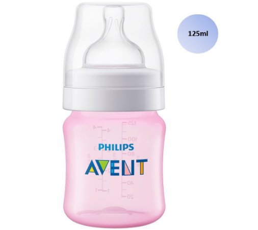 Mamadeira Avent Clássica Anticólica 125ml (Rosa) - SCF811/17 - Philips Avent