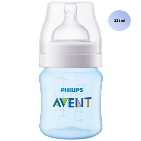 Mamadeira Avent Clássica Anticólica 125ml (Azul) - SCF812/17 - Philips Avent