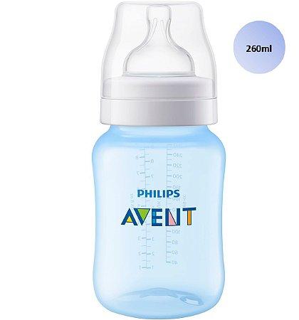 Mamadeira Avent Clássica Anticólica 260ml (Azul) - SCF815/17 - Philips Avent