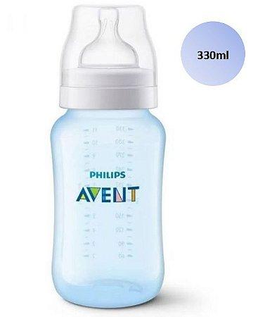Mamadeira Avent Clássica Anticólica 330ml (Azul) - SCF818/17 - Philips Avent