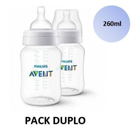 Mamadeira Avent Clássica Anticólica PACK DUPLO 260ml - SCF813/27 - Philips Avent