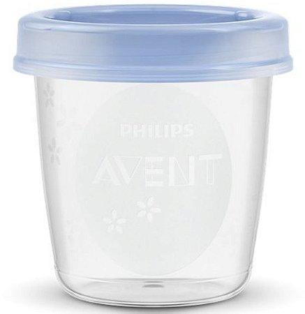 Pote para armazenar leite materno avent 180ml (c/ 10 uni) - SCF618/10 - Philips Avent