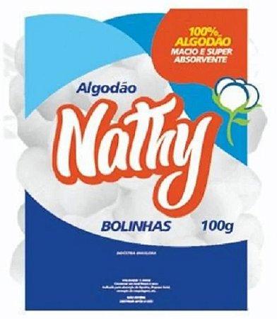 Algodão hidrófilo 100g em bolas - Nathy