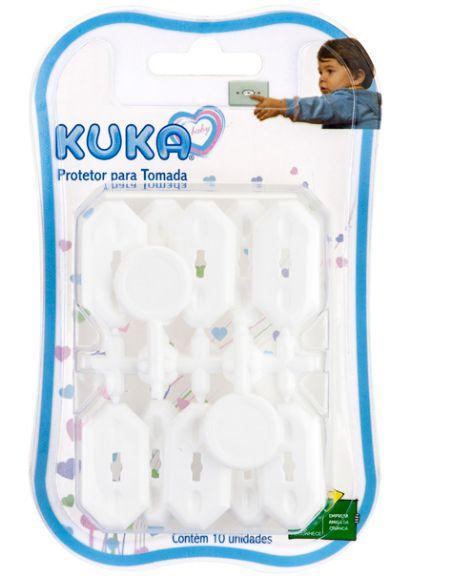 Protetor de tomada para bebê c/ 10 unidades - Kuka - Cód. 6205