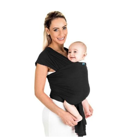 Sling wrap Sling para carregar bebê (preto) - Kababy