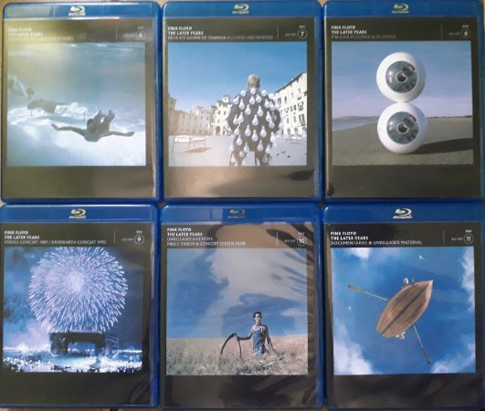 6 Blu-rays Pink Floyd - The Later Years