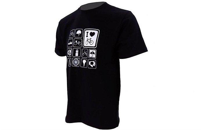 Camiseta Casual Marcio May Masculina Preta