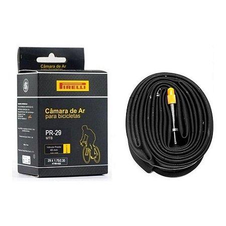 Câmara de Ar Pirelli MTB Aro 29 Bico Fino 48mm 1.75/2.35