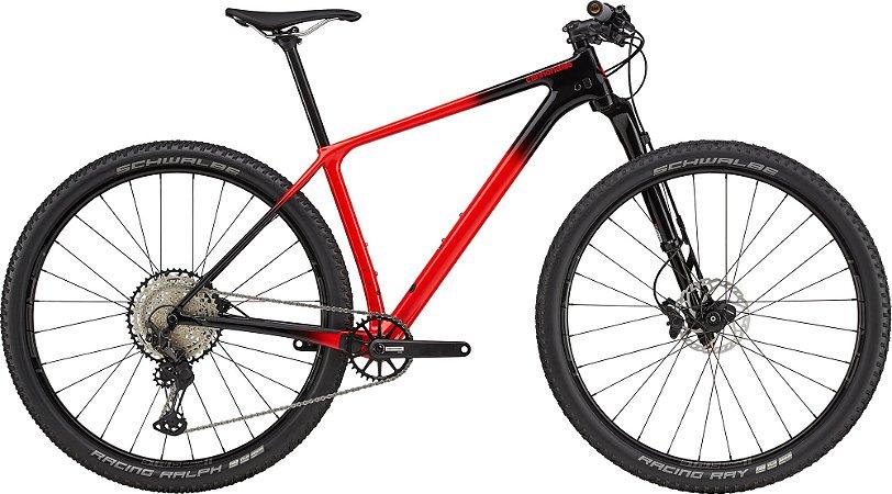 Bicicleta Cannondale F-SI Carbon 3 Tam G Vermelha 2021