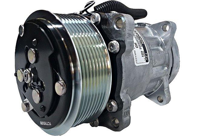 Compressor De Ar Sanden 7h15 12v 4864 Polia 8pk 8 Orelhas