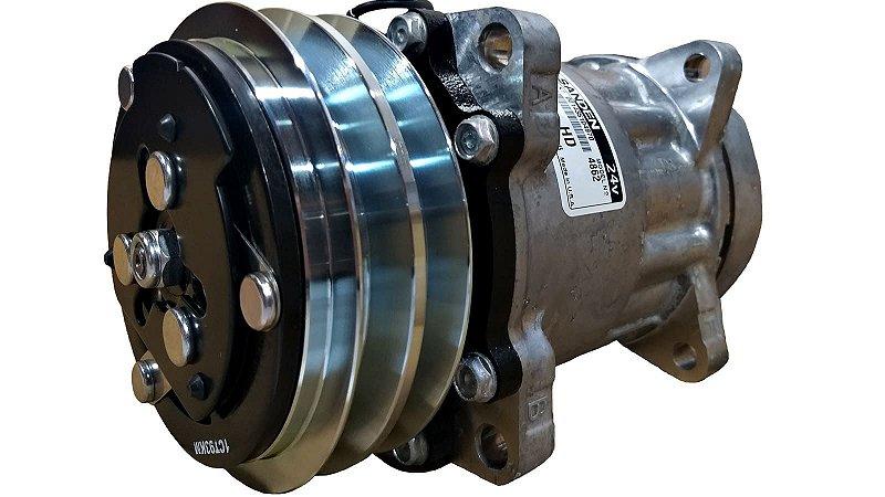 Compressor De Ar Sanden 7h15 Modelo 4862 24v Polia 2a