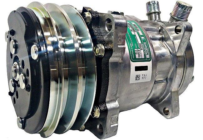 Compressor Sanden 5h14 Modelo 6626 12v Polia 2a