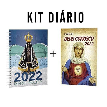 Kit Diário Deus Conosco 2022 - Aparecida + I.C de Maria