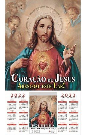 Folhinha Sagrado Coração De Jesus - 2022
