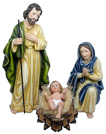 Presépio de Natal Sagrada Família 50 CM - Resina Importada
