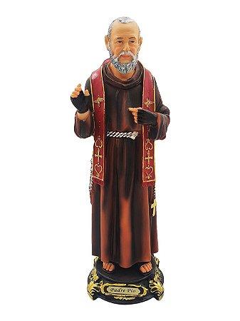 Imagem São Padre Pio 40 CM - Resina Importada