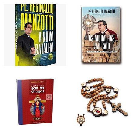 KIT LIVRO A NOVA BATALHA + MURALHAS + DEVOCIONÁRIO + TERÇO