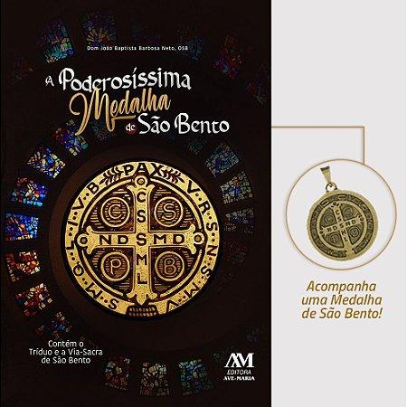 Livro A poderosíssima medalha de São Bento -Contém o Tríduo