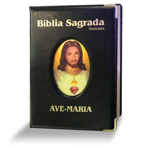 Bíblia Ilustrada Luxo - Grande - Preta