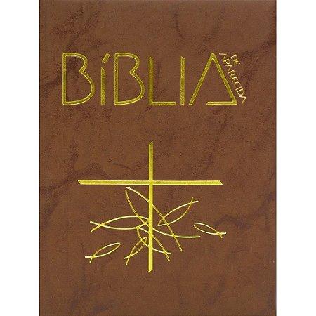 Bíblia de Aparecida - Média Zíper Flexível Marrom
