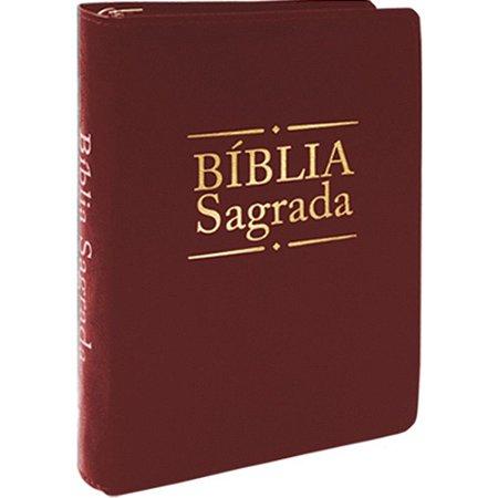 Bíblia Sagrada - Média Dourada Zíper Bordo