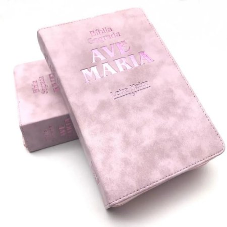 Bíblia Letra Maior Zíper Strike - Rosa