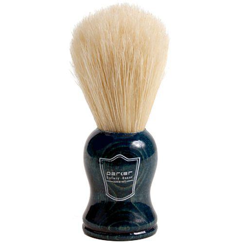 Pincel de Barbear Parker Azul Cerdas de Javali