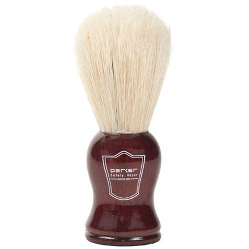 Pincel de Barbear Parker Vermelho Cerdas de Javali
