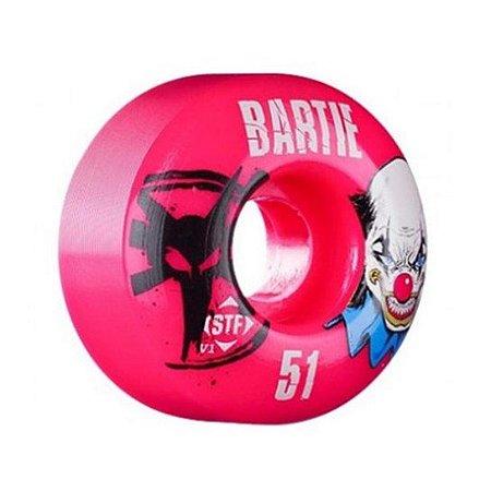 Roda de Skate Bones STF Bartie Clown 51mm Rosa