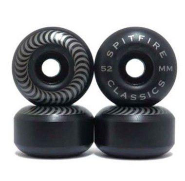 Roda de Skate Spitfire Classic 52mm Preta