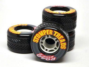 Rodas de Skate Road Rider Stomper Treads 70mm 78A Preta