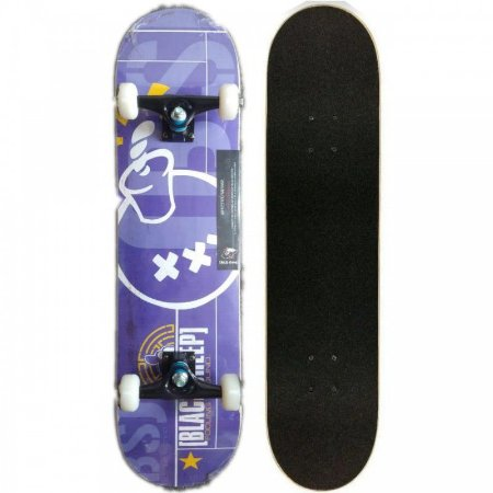 SKATE MONTADO COM SHAPE BLACK SHEEP ROXO